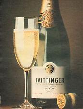 Publicité Advertising 1981  Champagne TAITTINGER