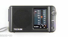 TECSUN R-209 AM/FM Radio with FM-DX Function << BLACK + English Manual >>
