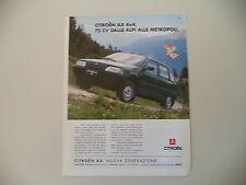 advertising Pubblicità 1993 CITROEN AX 4x4