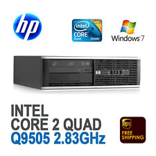 HP 8000 SFF Desktop Computer PC / Core 2 Quad 2.83 Ghz / 1 TB / Windows 7 Pro