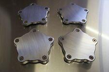 Fits Coys C-5 Wheels Block-off Aluminum Flat Center Spindle Dust Caps 4 Pack