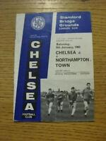 09/01/1965 Chelsea v Northampton Town [FA Cup] (Creased, Folded, Score Noted On