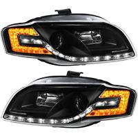 Scheinwerfer Set für Audi A4 8E B7 Bj. 04-08 LED Tagfahrlicht Optik klar schwarz