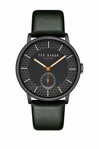 NIB Ted Baker London Men James Leather Watch Black MSRP $155