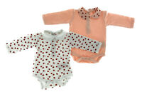 2er Set Baby Bio Baumwolle Body Strampler Kleinkind 0 - 24 Monate Marienkäfer