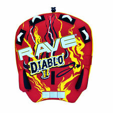RAVE Sports Diablo II Inflatable 2 Person Rider Towable Boat Water Tube Raft