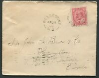 "NEW BRUNSWICK SPLIT RING TOWN CANCEL COVER ""BELLEDUNE"""