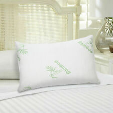 Genuine Bamboo Memory Foam Bed Pillow Queen Size Hypoallergenic with Carry Bag