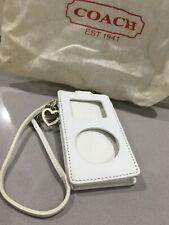 Vintage Coach iPod White Leather Holder