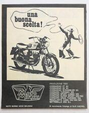 Pubblicità 1969 MOTO MORINI CORSARO MOTOR advertising publicitè werbung reklame