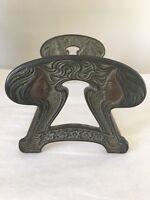 Antique Art Nouveau French Figural Bookends Rack Expandable