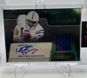 2021 Leaf Ultimate Sports Peyton Manning Jersey Patch Auto 3/3