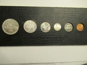 1962 Canada Proof-Like 6 coin set, 80% silver,  carded