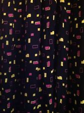 80s 90s style print loose fit harem trousers black pink yellow UK 16 Summer