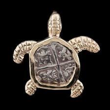 Atocha Jewelry - Small Silver Coin Sterling Silver Turtle Pendant