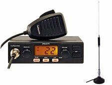 LAFAYETTE ATENA. CB 27 MHz ricetrasmettitore. AM / FM 4 Watt + Antenna magnetica 65 cm