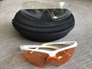 DHB Sunglasses With Orange/Clear Interchangeable Lenses &  Carry Case