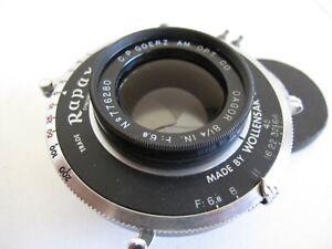 "CP Goerz Dagor 8 1/4"" f6.8 Lens (210mm) in Wollensak Rapax Shutter 5x7 and 4x5"