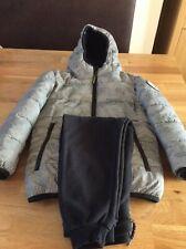 F&F Boys Grey Reflective School Coat/Jacket Age 5-6 Years Plus Black Joggers