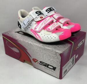 SIDI GENIUS FIT Women's White Flo Pink Road Shoes EU 38 US 6.25 MSRP $250