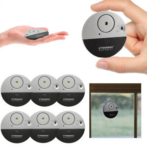 1/6* DOBERMAN SECURITY Wireless Window Door Alarm Vibration Alert Sensor 100dB