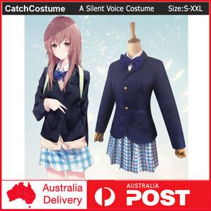 Anime A Silent Voice Nishimiya Shouko Cosplay Costume Girls School Uniform Dress