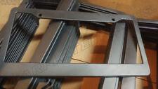"LOT OF 100 BLANK BLACK PLASTIC 100 BULK License Plate Frame FRAMES WITH TABS 1"""