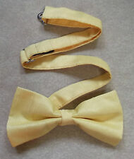 "TOP QUALITY MENS DICKIE BOW TIE PALE CANARY YELLOW ADJUSTABLE BOWTIE 14"" TO 20"""