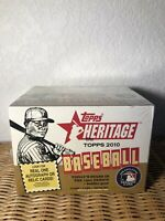 2010 TOPPS Heritage Baseball Hobby Box | The 1961 Design | AUTOGRAPH & RELIC