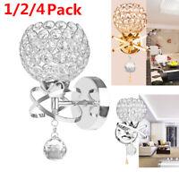 Modern LED Crystal Pendant Wall Light Sconce for Indoor Bedroom Lighting Decor