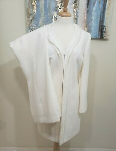 TAHARI ARTHUR S LEVINE Women 2PC Cream Pant Suit Size 10