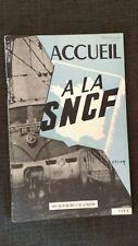 """introuvable guide cheminot 1963 livret """"ACCUEIL à la SNCF """"TRACTION/MATERIEL"""