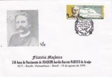 BUSTA BRASILE 1999 MASONRY MASSONERIA MASONIC FREEMASONRY 150° JOAQUIM NABUCO