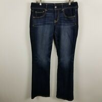 American Eagle Stretch Kick Boot Cut Womens Dark Wash Blue Jeans Size 12