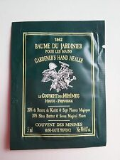 Le Couvent des Minimes Gardener's Hand Healer Cream Packettes( Box of 24) FRANCE