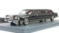1:43 Neo Lincoln Towncar Limousine 1985 Black NEO45335
