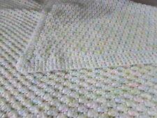 Afghan Handmade Crochet Blanket Throw Muli-color Heavy Warm Gift Nursery Baby