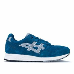 Men's Asics GELSAGA Lace up Cushioned Trainers in Blue