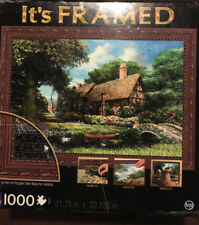 Its Framed 1000 Piece Jigsaw Puzzle Alderriver Cottage Complete With Everything