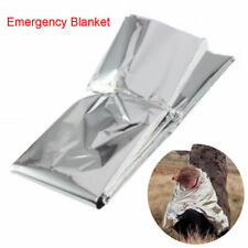 Portable Foil Emergency Blanket Survival First Aid Thermal Rescue 210*140 Silver