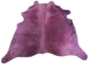 Purple Cowhide Rug Size: 7 1/2' X 7' Dyed Purple Cowhide Skin Rug N-295