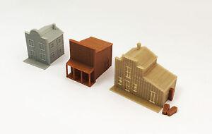 Outland Models Modelleisenbahn Miniatur 2-stöckige Westlichen häuser Spur Z