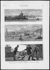 1879-antica stampa MARITTIMA Osborne RHODES MALAGA pecore Shearer connaugh (111)
