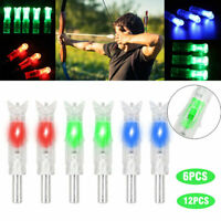 6/12Pcs 7.6mm Shooting Automatically Led Lighted New Style CrossBow Arrow Nock