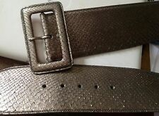 NEW RALPH LAUREN PURPLE LABEL PYTHON SILVER BRONZE BELT  SIZE M