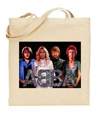 Shopper Tote Bag Cotton Canvas Cool Icon Stars ABBA Band Ideal Gift Present