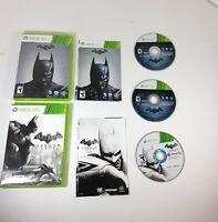 Microsoft Xbox 360 Batman Arkham Origins& Arkham City Complete Lot 2 Games