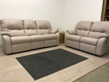G PLAN MISTRAL LEATHER MANUAL RECLINING 3 SEATER SOFA & MANUAL 2 SEATER SOFA