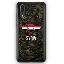 Huawei P20 SILIKON Hülle Syrien Syria Camouflage mit Schriftzug Motiv Design Mi