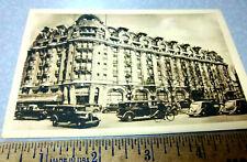Vintage RPPC postcard, Hotel Lutetia, Paris France, great cars, Real Photograph
